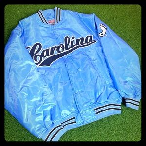 Vintage UNC Tar heels Varsity Bomber Jacket